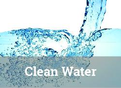 """Image of clean water being poured with """"Clean Water"""" label."""
